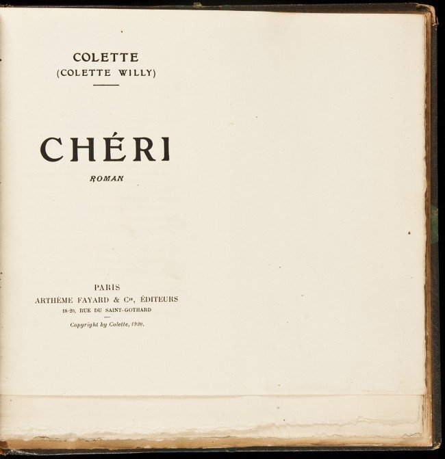 21: Cheri by Colette One of 175 copies, untrimmed