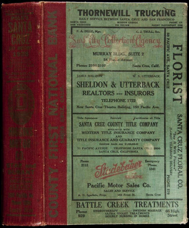 24: Polk's Santa Cruz California City Directory, 1928