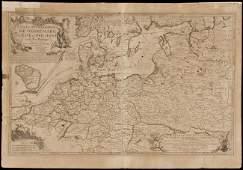 252: De Fer map of Poland & Baltic 1705