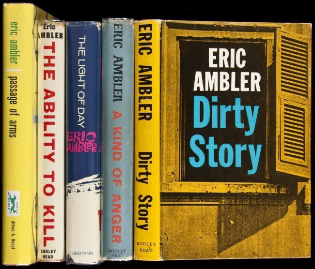 9: Five titles by Eric Ambler in djs