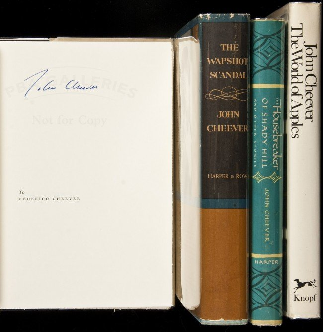 49: 4 volumes by John Cheever, including 2 signed