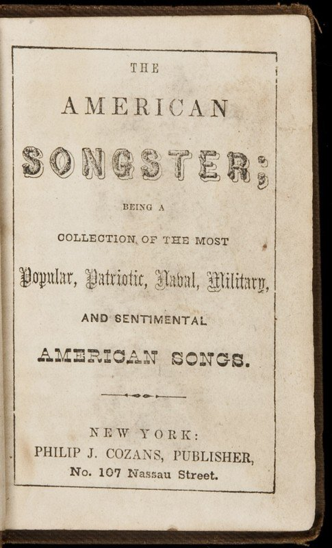 1: The American Songster c. 1850