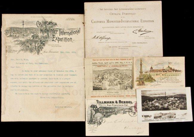 12: Six ephemeral items for Midwinter Fair 1894