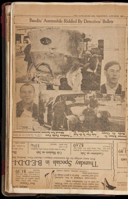 14: 1920's Chico California Crime Scrapbook