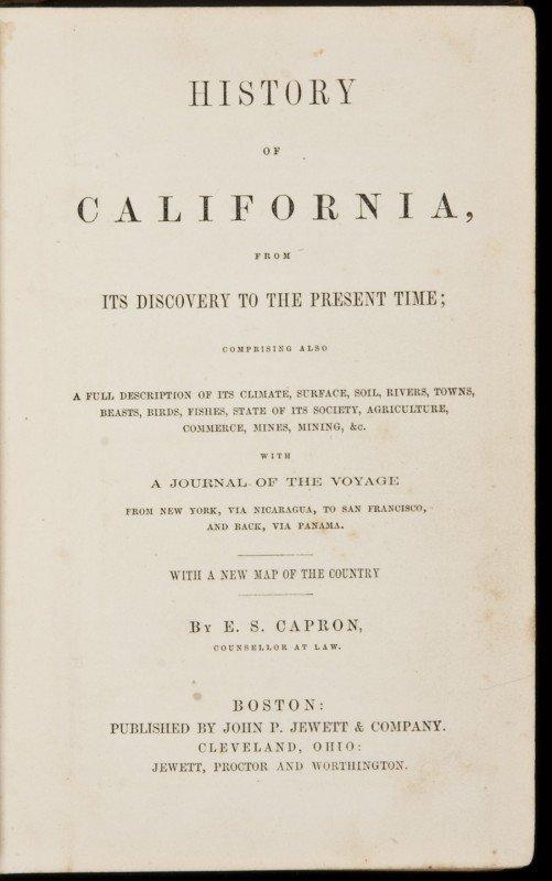 16: Capron's History of California 1854