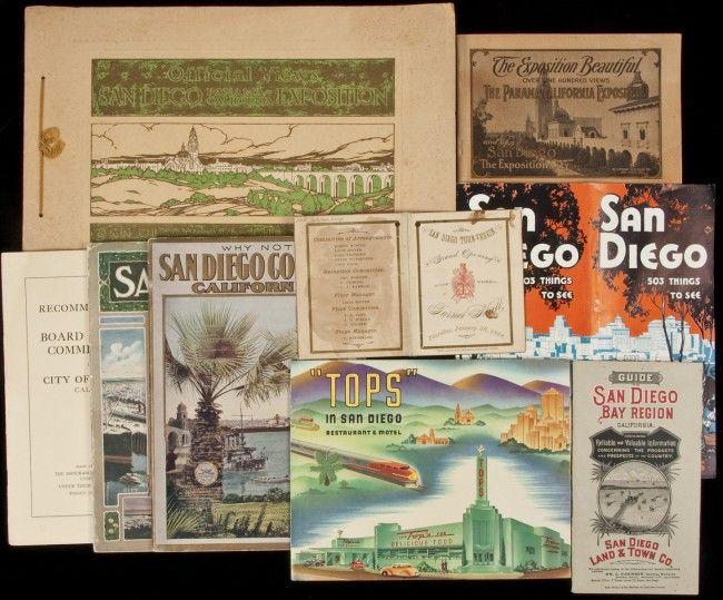 89: Group of San Diego promotional ephemera