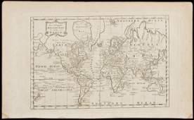 313 Mercator Chart of the World by Millar c1780