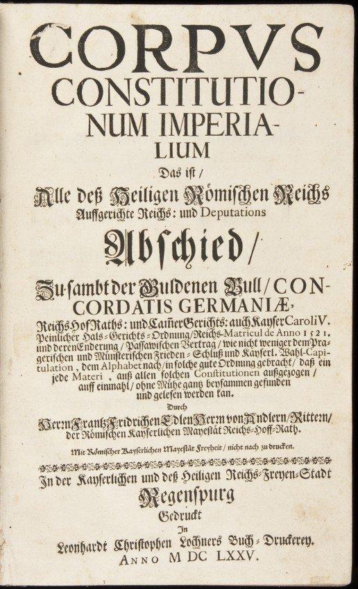 4: Corpus Constitutionum Imperialium
