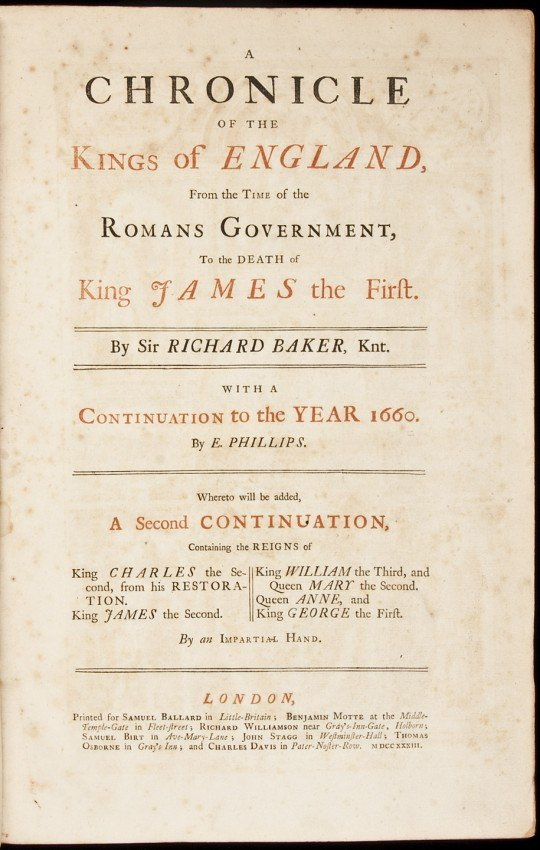 14: Baker's Chronicles of the Kings of England
