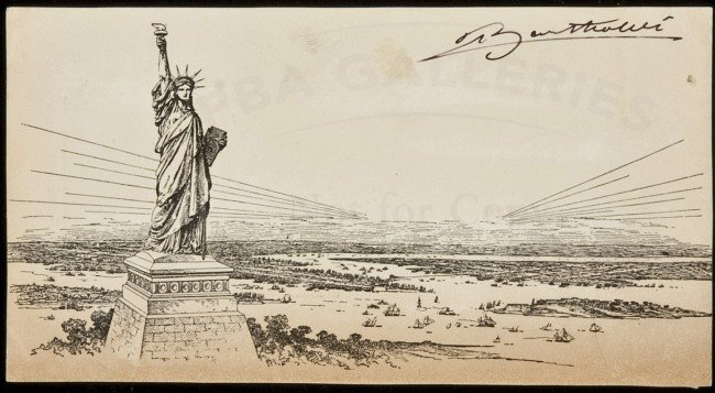 16: Signed by designer of Statue of Liberty