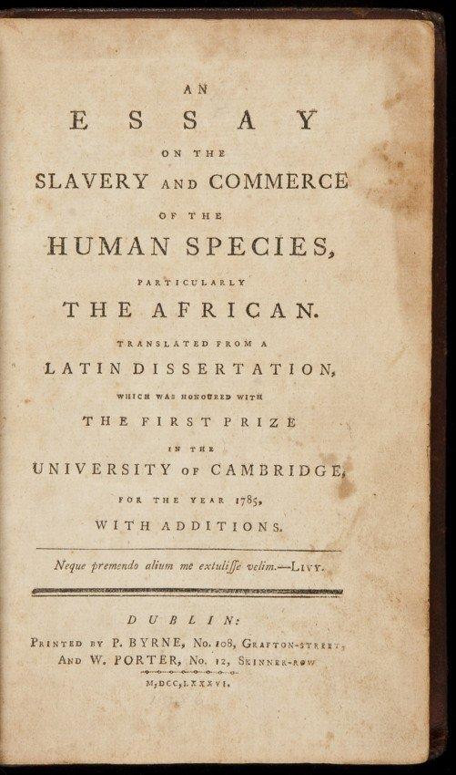 50: Essay on Slavery by Thos Clarkson 1786