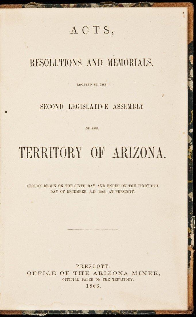 5: Arizona Legistlative Assembly 1866