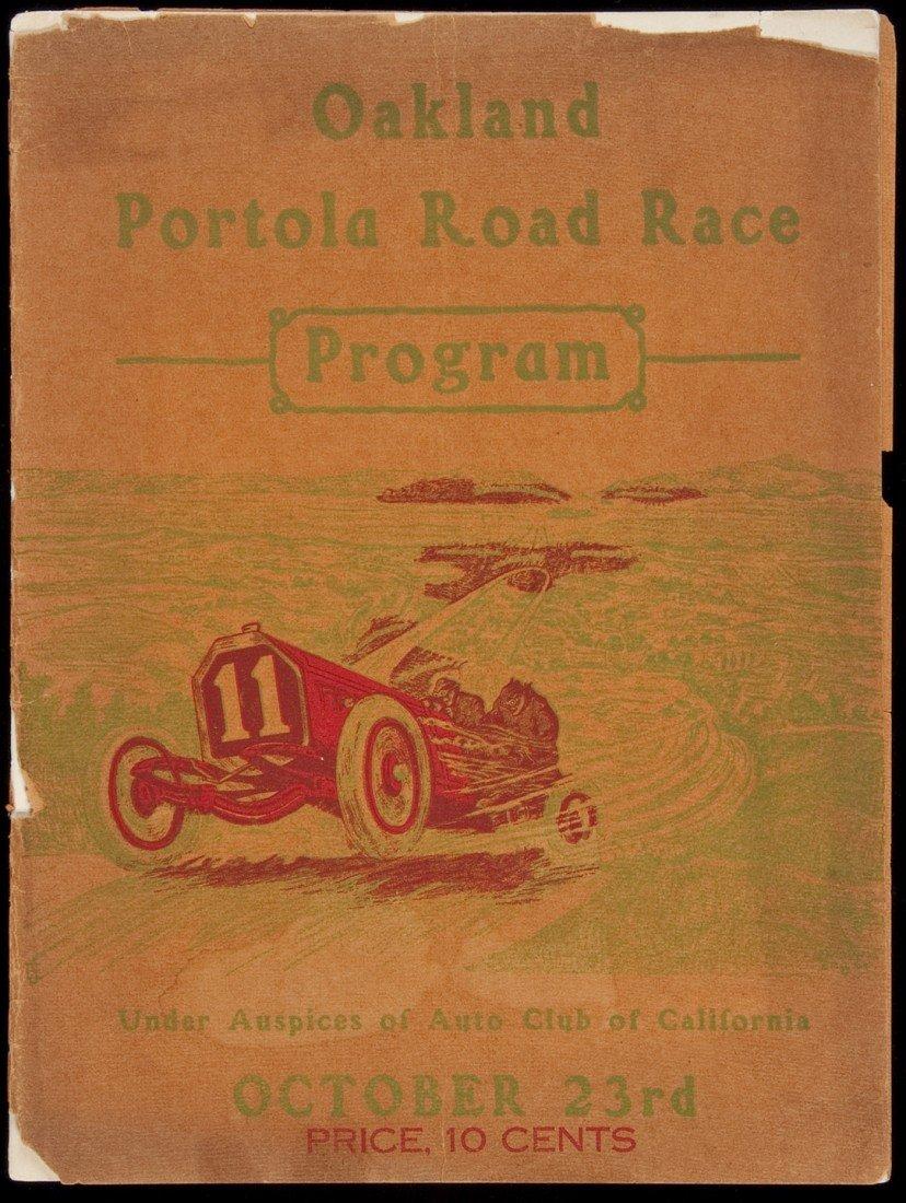 7: Oakland Automobile Road Race program 1909