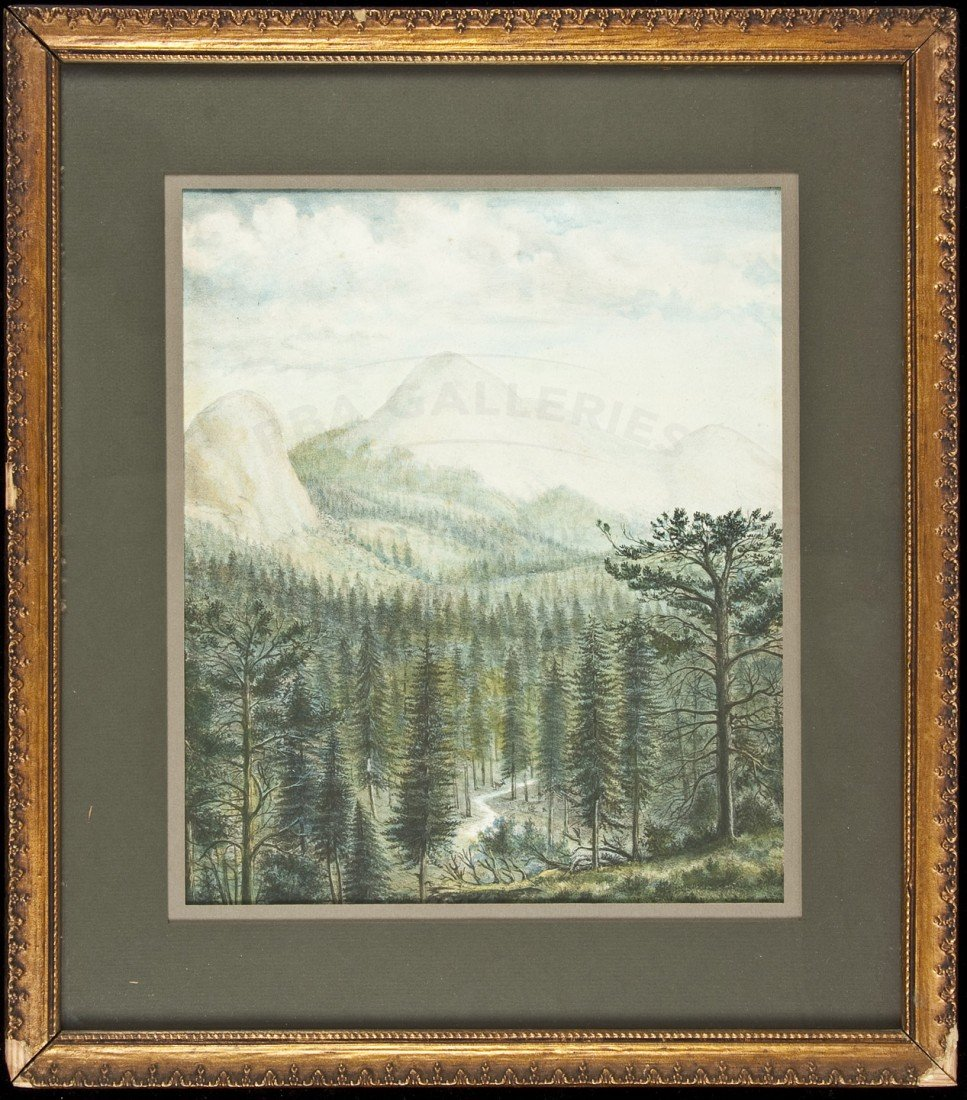 9: Geo. Baker litho of California Gold Country