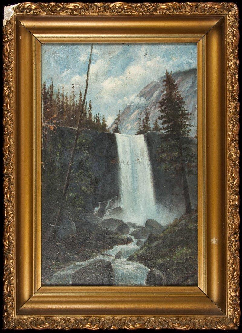 10: Painting Vernal Falls atttrib. to George H. Baker