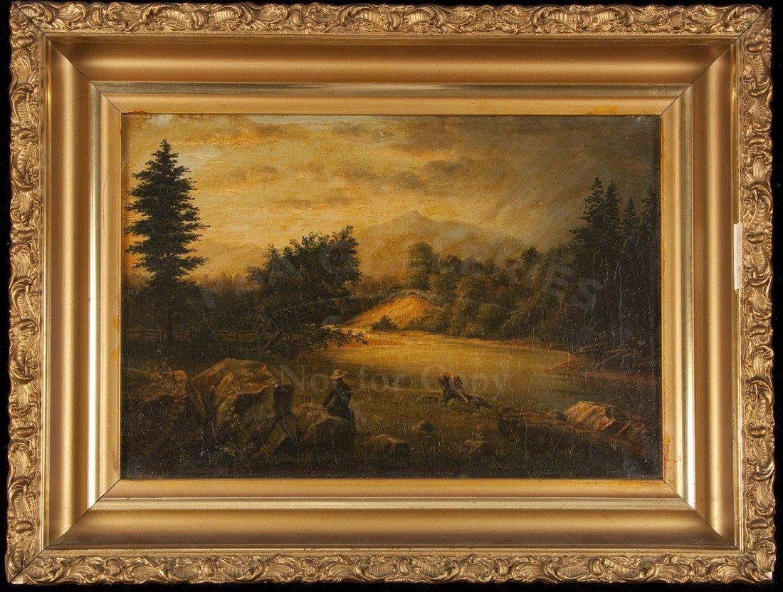 11: Painting by Geo. Baker of California scene