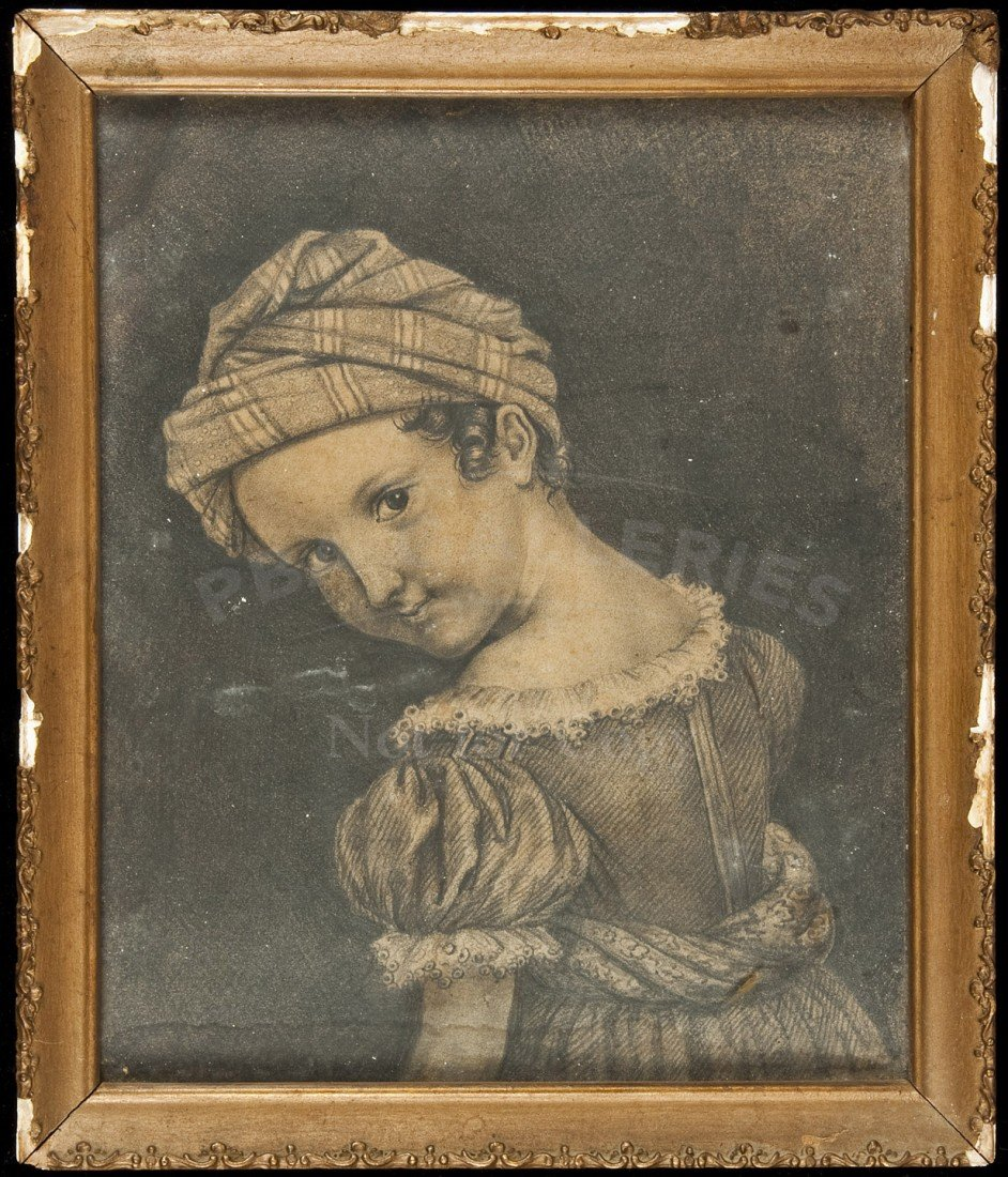 12: Pencil/charcoal portrait by George H. Baker