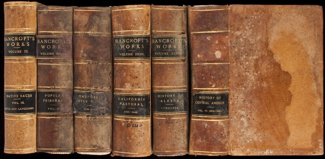 15: Works of Bancroft incomplete, with several dups