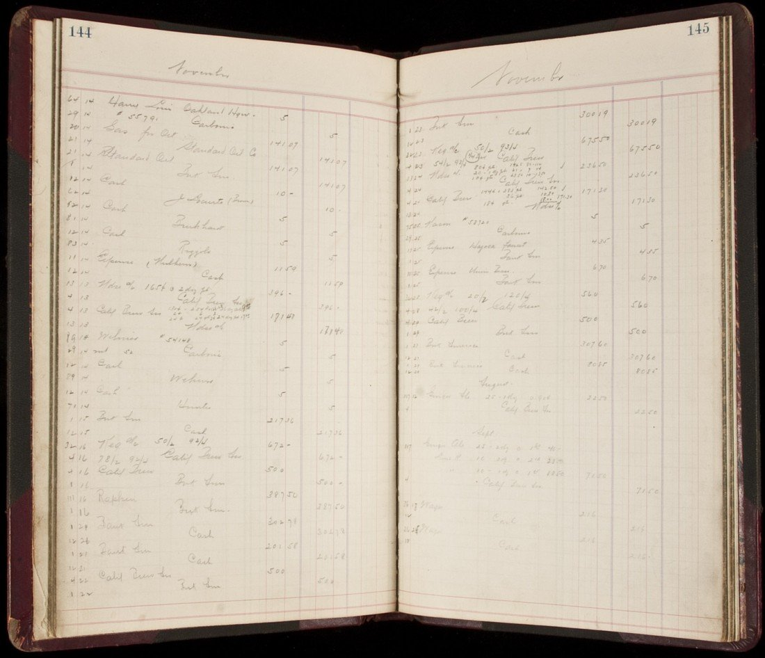 17: Ledger book for the Acme Beverage Company