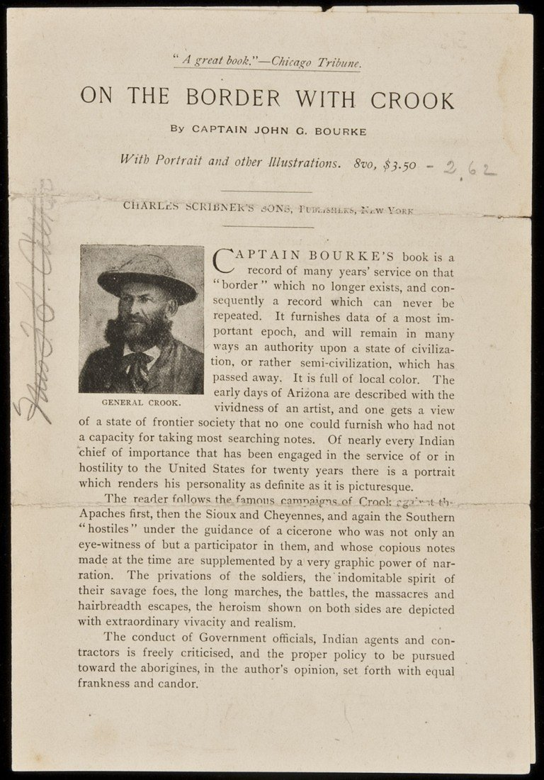 24: prospectus for On the Border w/Cook 1891