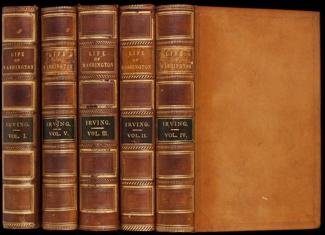 100: Life of George Washington in 5 volumes 1860