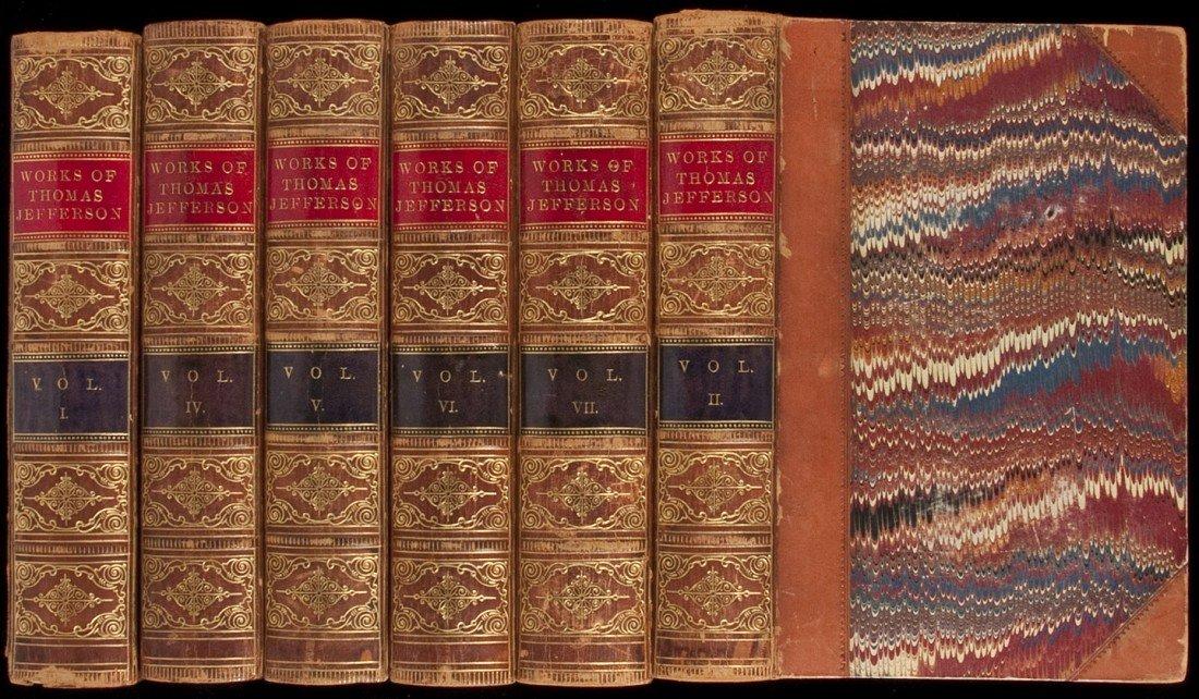 101: Writings of Thomas Jefferson in 9 vols. 1861