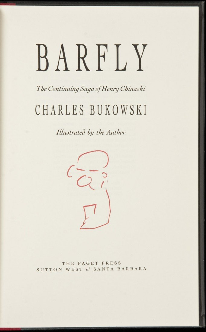 14: Bukowski Barfly signed limited first edition hc