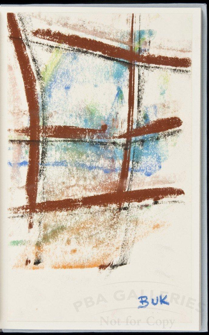22: Bukowski / Purdy Letters w/orig pastel 1/26