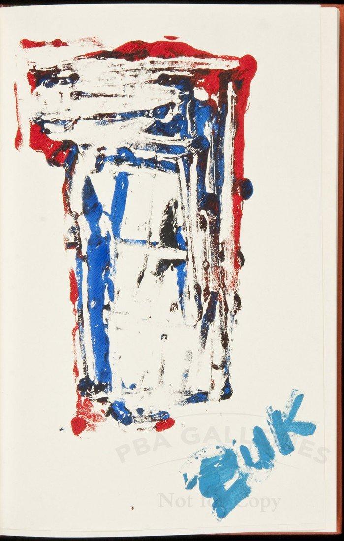24: Bukowski Burning in Water Drowning Flame painting