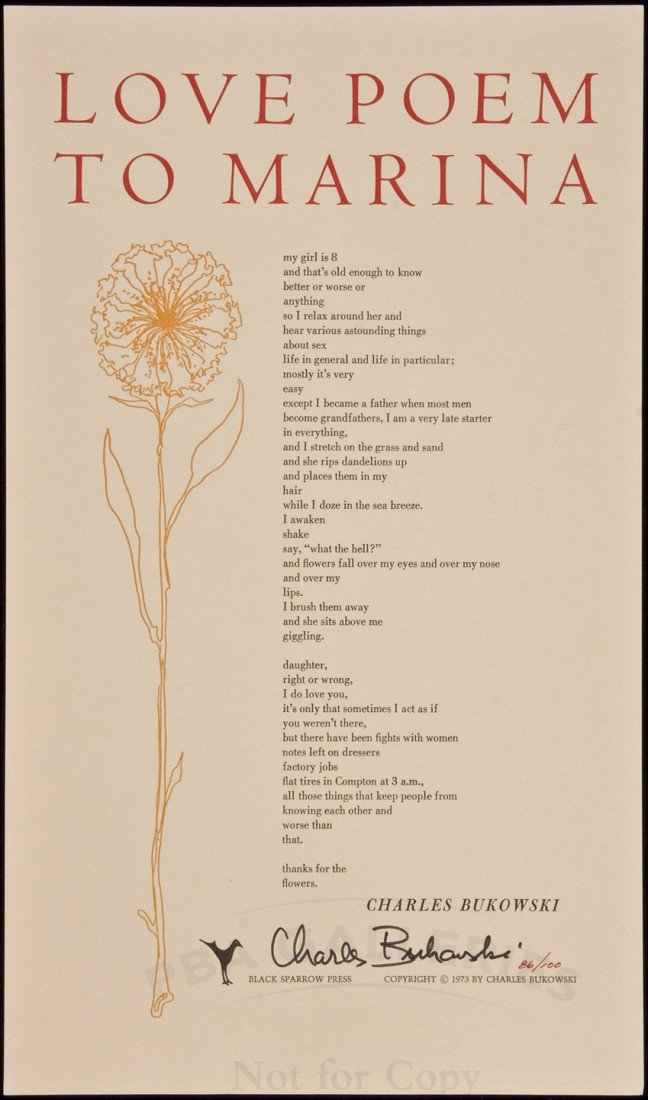 72: Charles Bukowski Love Poem to Marina