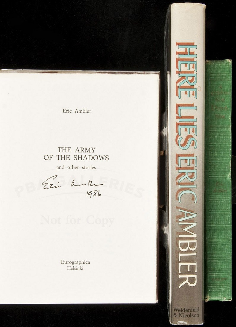 13: Three works by Eric Ambler, signed