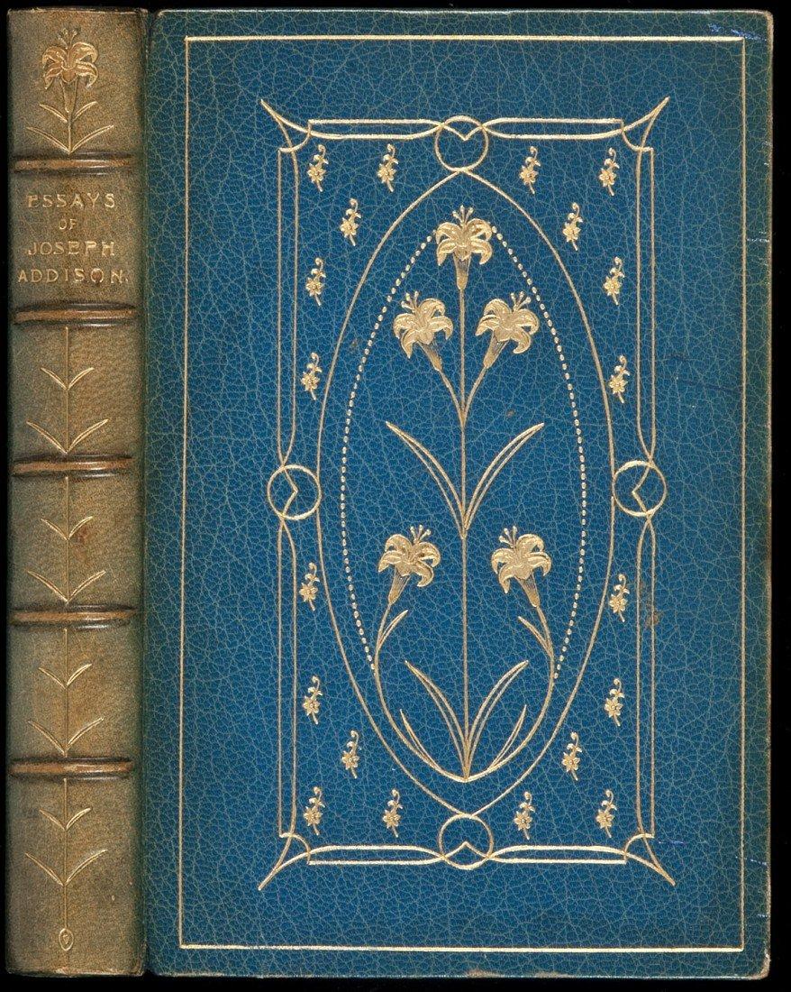 2: Essays of Joseph Addison finely bound by Ramage