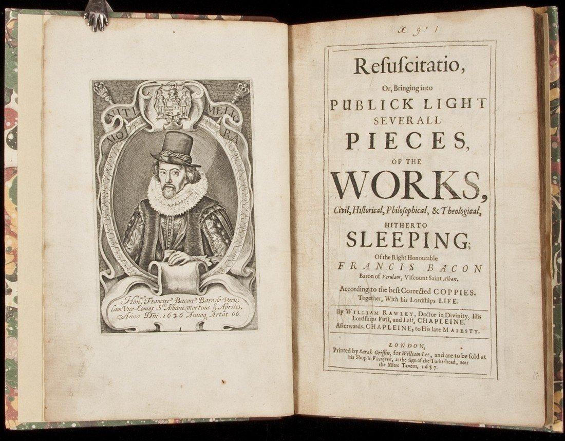 15: Francis Bacon's Resuscitatio 1657 1st edition