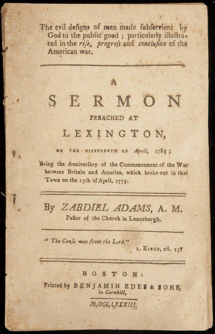 4: Sermon commemorating the Battle of Lexington