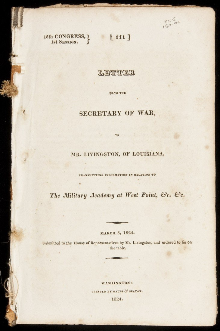 14: 1824 Report on West Point