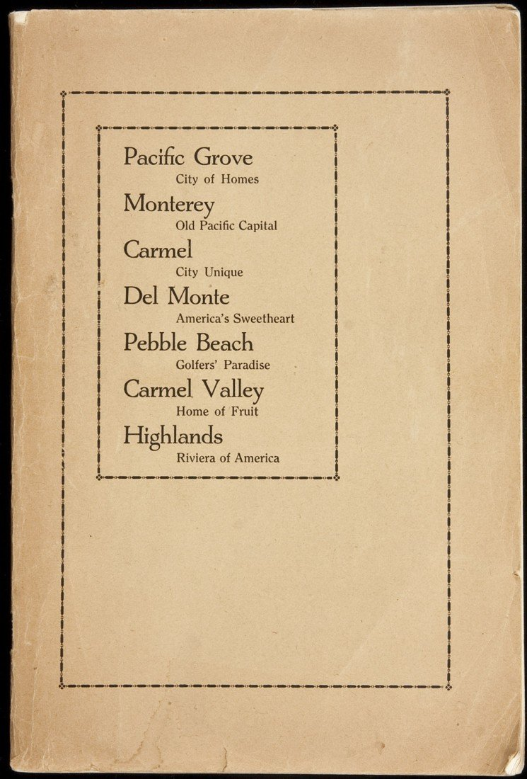 20: Promotional for Monterey Peninsula 1931