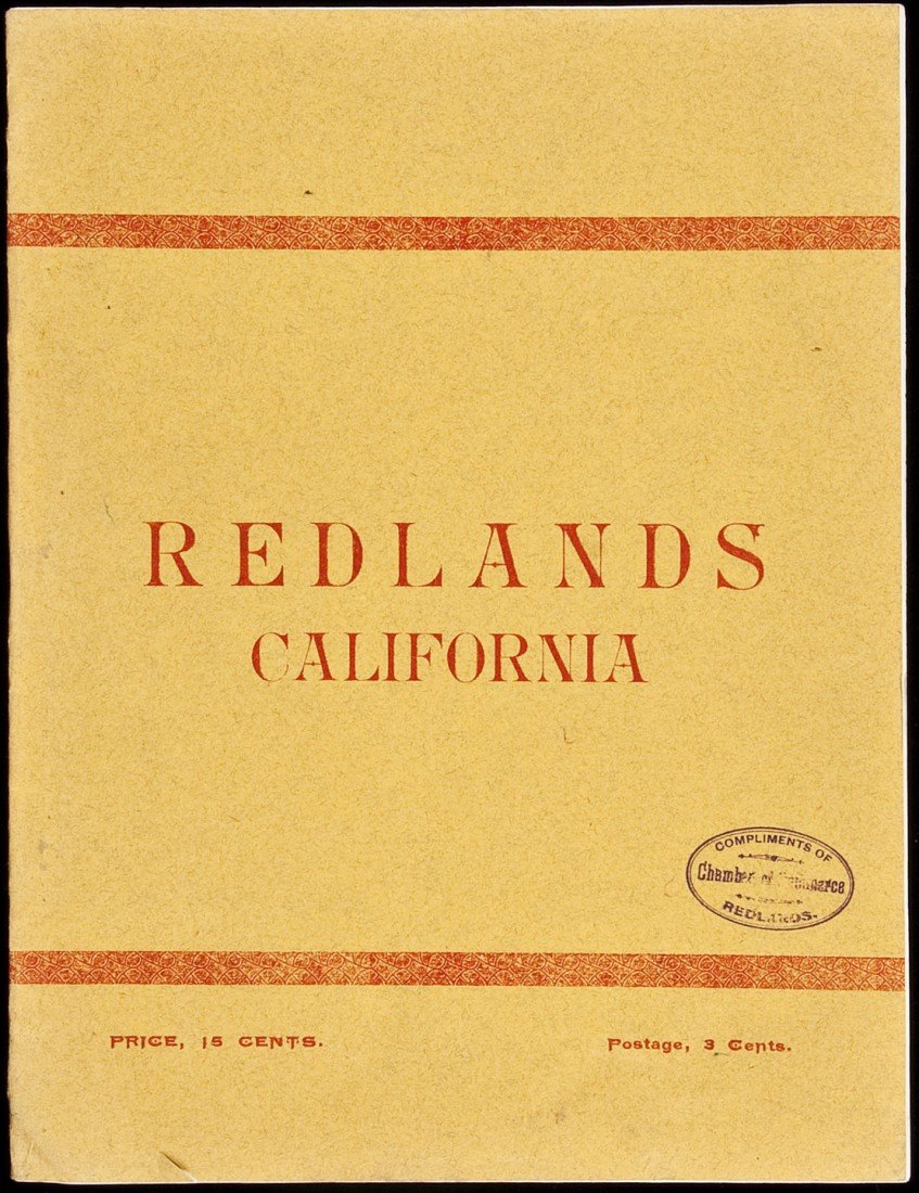 21: Scarce Redlands promotional piece 1895