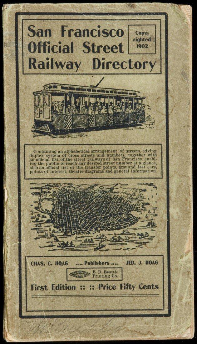 22: San Francisco Street Railway Directory 1902