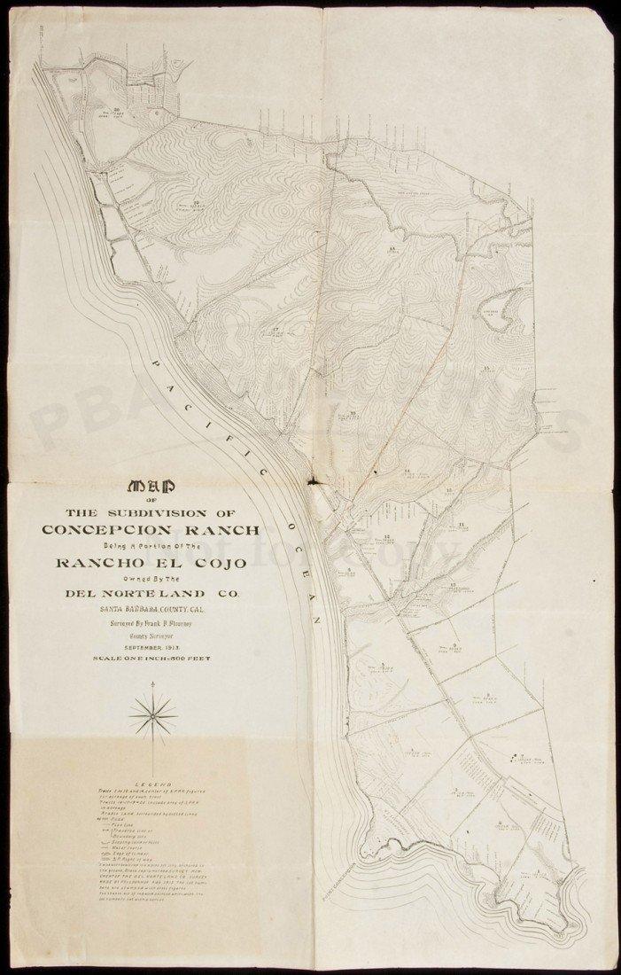 23: Map of Concepcion Ranch Santa Barbara 1913