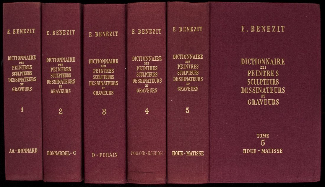 22: French 8 vol Dictionary on Art 1966 facsimile ed