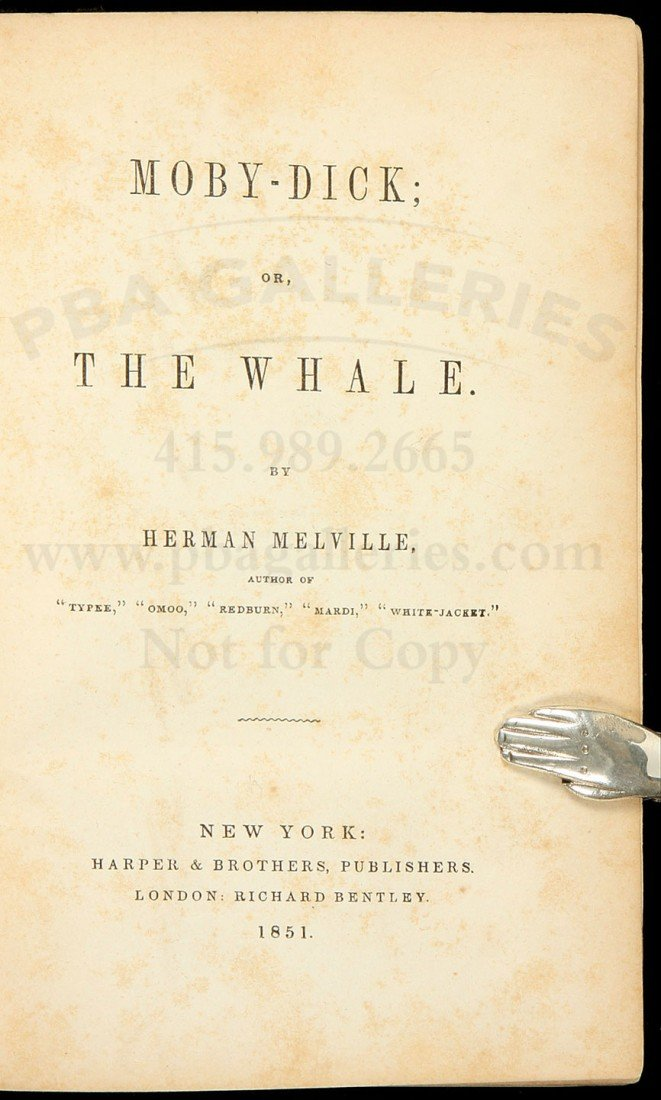 476: First American Edition of Moby Dick