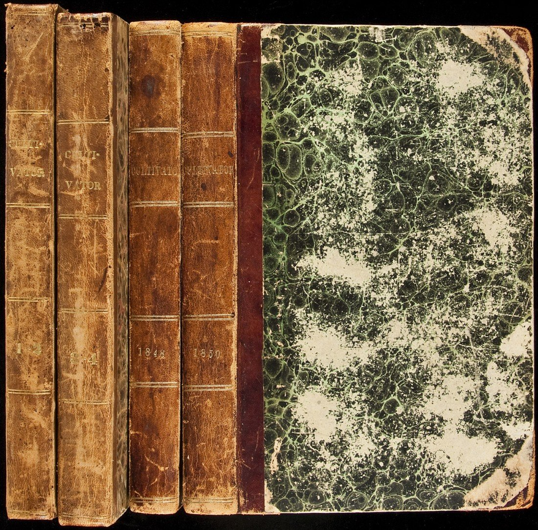 1: Six volumes of The Cultivator, 1835-1850