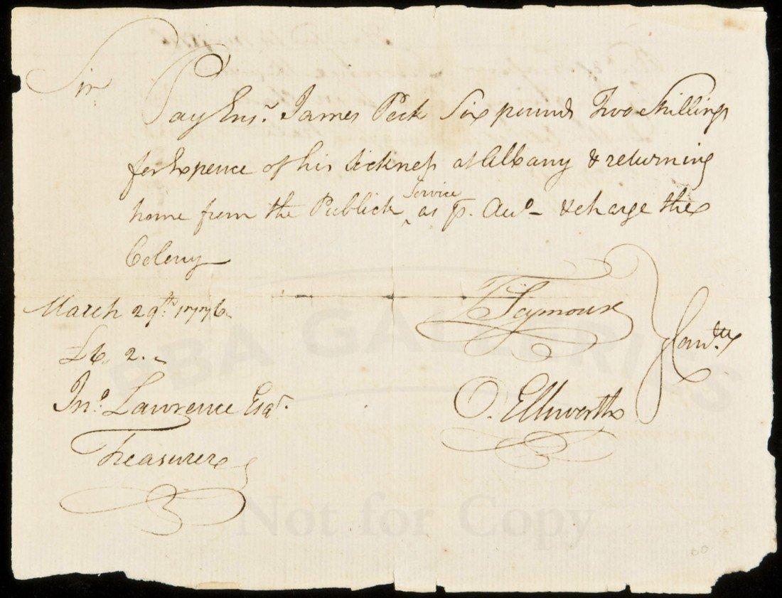 7: America Revolution pay voucher 1776