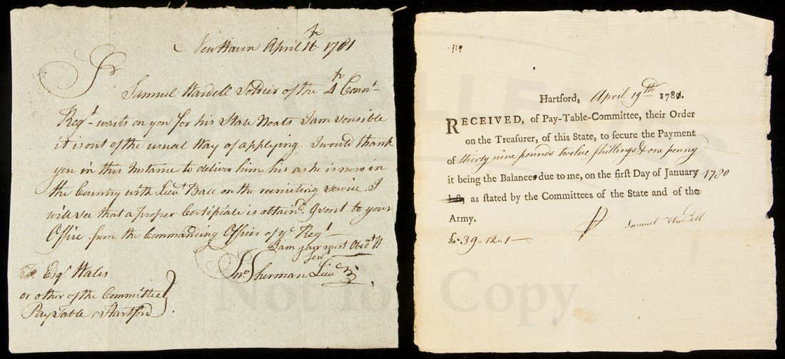 10: Revolutionary soldier gets a paycheck, 1781