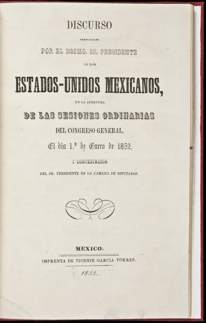 15: Rare report by Mexican President Mariano Arista