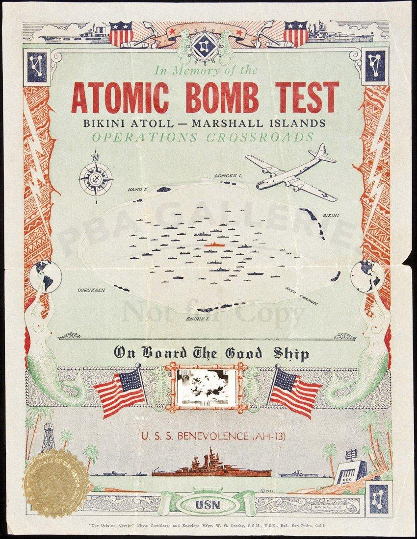 19: Atomic Bomb Test at Bikini Atoll Souvenir