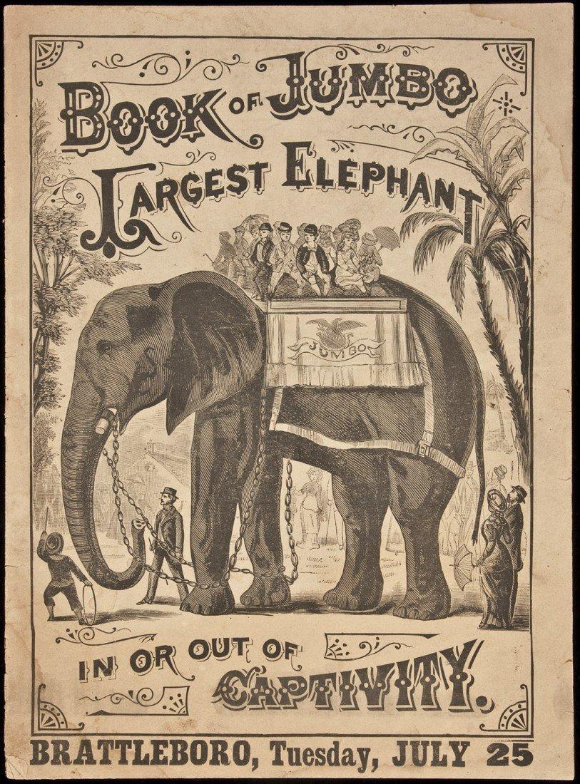 24: Rare 1882 advertisement for Jumbo the Elephant