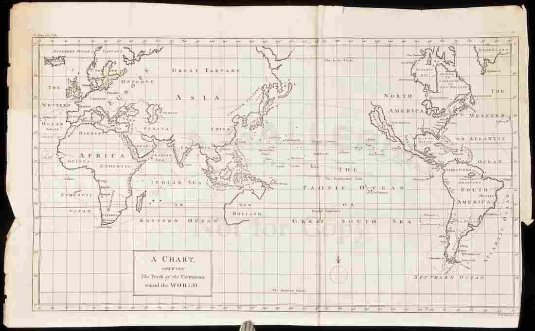 298: Anson World Chart California an island 1748