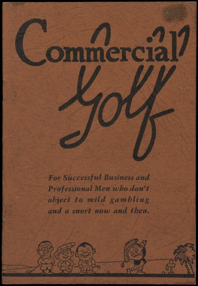 10: Commercial Golf by RT Arnold 1937 scarce!