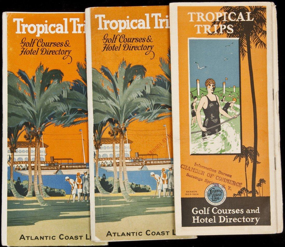 12: 3 Tropical Trips Atalntic Coast Line RR brochures